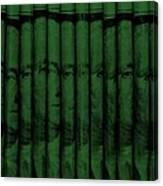 Singles In Dark Green Canvas Print
