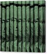 Singles In Light Green Canvas Print