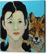 Sinopa Little Fox Canvas Print