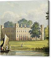 Sion House, From R. Ackermanns Canvas Print