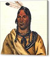 Sioux Chief 1883 Canvas Print
