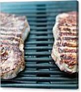 Sirloin Steak On The Barbecue Grill Canvas Print