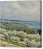 Sisley Saint-germain, 1875 Canvas Print