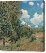 Sisley The Road, 1875 Canvas Print