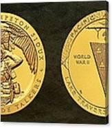 Sisseton Wahpeton Oyate Sioux Tribe Code Talkers Bronze Medal Art Canvas Print