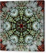 Sister Cactus Mandala Canvas Print
