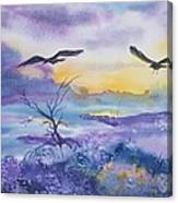 Sister Ravens Canvas Print