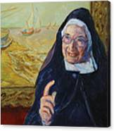Sister Wendy Canvas Print