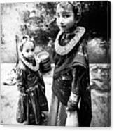 Sisters In Nepal Canvas Print
