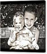 Sisters In Sepia Canvas Print