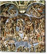 Sistine Chapel The Last Judgement, 1538-41 Fresco Pre-restoration Canvas Print