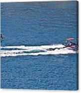 Sit Down Hydrofoil Ski Sport Canvas Print