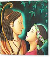 Sita Rama In The Forest Canvas Print