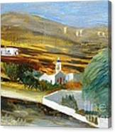 Site From Tinos Island Canvas Print