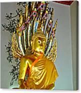 Sitting Buddha In Wat Po In Bangkok-thailand Canvas Print