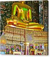 Sitting Buddha In Wat Suthat In Bangkok-thailand Canvas Print