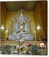 sitting Buddha made from one single marble block in KYAUKTAWGYI PAGODA Canvas Print