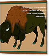 Sitting Bull Buffalo Canvas Print