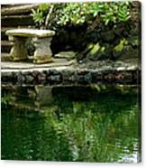 Sitting By The Pond Canvas Print