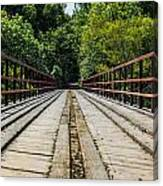 Sitting On A Bridge Canvas Print