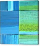 Six Blue Tiles Canvas Print