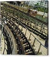 Six Flags America - Roar Roller Coaster - 12124 Canvas Print