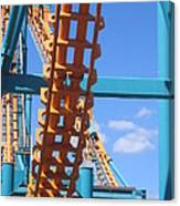 Six Flags America - Two-face Roller Coaster - 12121 Canvas Print