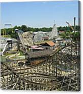 Six Flags America - Wild One Roller Coaster - 121210 Canvas Print