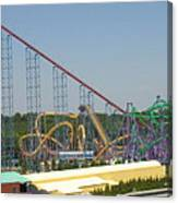 Six Flags America - Wild One Roller Coaster - 12123 Canvas Print