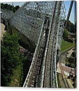 Six Flags America - Wild One Roller Coaster - 12129 Canvas Print