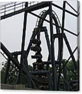 Six Flags Great Adventure - Medusa Roller Coaster - 12124 Canvas Print