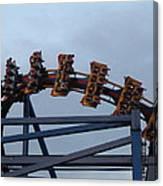 Six Flags Great Adventure - Medusa Roller Coaster - 12127 Canvas Print