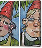 Six Gnomes Horizontal Canvas Print