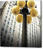 Six Light Lamp Post Canvas Print