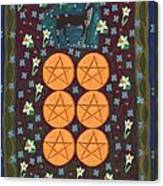 Six Of Pentacles Canvas Print