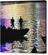 Six On A Boat Canvas Print