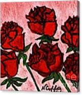 Six Roses Canvas Print