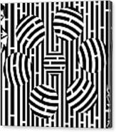 Six Shooter Illusion Maze  Canvas Print