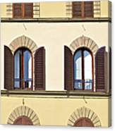 Six Windows Of Florence Canvas Print
