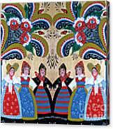 Six Women Dancing Canvas Print