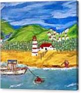 Skala Kalloni Canvas Print
