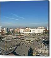 Skanderberg Square In Tirana Albania Canvas Print
