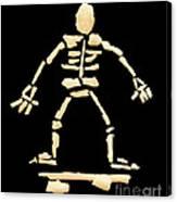 Skateboard Skeleton Canvas Print
