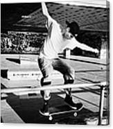 skateboarder at the undercroft skate park of the southbank centre London England UK Canvas Print