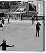 Skating In New York City Canvas Print