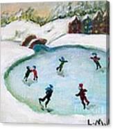 Skating Pond Canvas Print