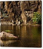 Skc 2964 The Rustic Rocks And Ripply Waters Canvas Print
