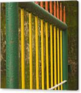 Skc 3266 Colorful Gate Canvas Print