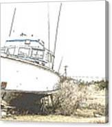 Skeleton Boat Canvas Print