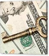 Skeleton Key On Cash. Canvas Print